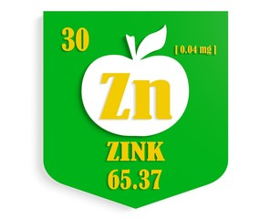 apple nutrition value description like chemistry element zink