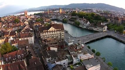 Niederdorf Stadt Zürich Limmat