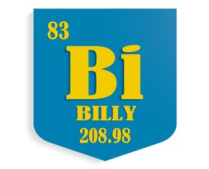 name billy on shield instead chemical element