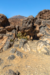 Volcanic formation of rocks created by the Teide
