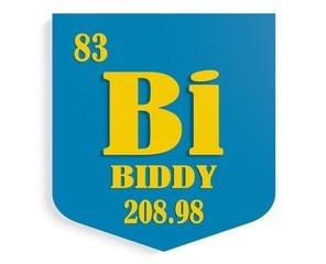 name biddy on shield instead chemical element