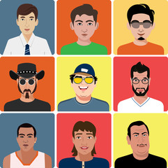 Vector men's avatar