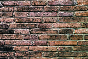 old red brick wall in Thailand