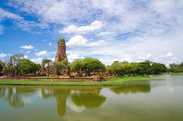 Historic Site in Ayutthaya province of Thailand