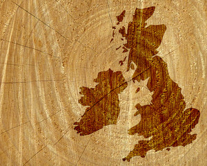 Wood map of UK and Ireland