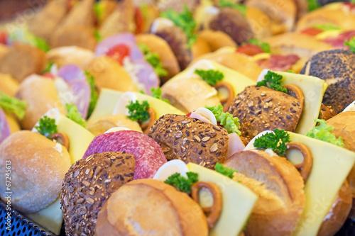 Fotobehang Snack Belegte Brötchen - Snacks - Imbiss