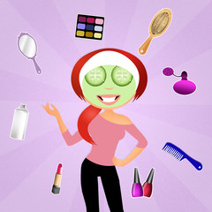 Make up woman