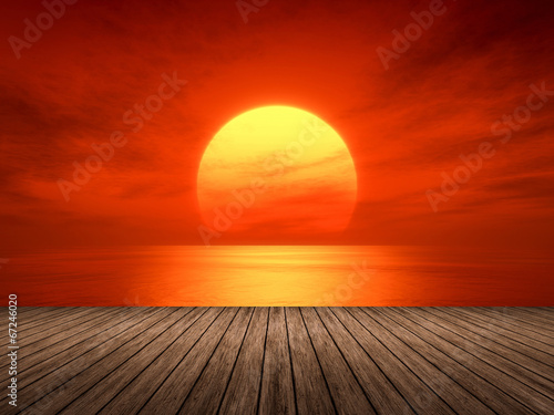 Fototapeta red sunset