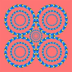 optical illusion helical circles