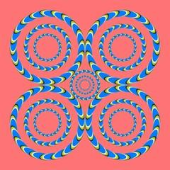 optical illusion helical circles