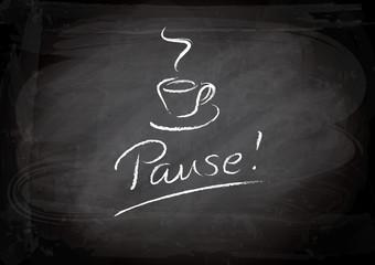 Pause - Kreidetafel