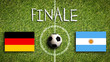canvas print picture - Finale Deutschland vs. Argentinien