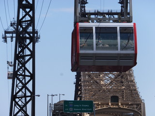 Roosevelt Island cable car in Manhattan, New York