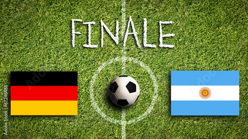 canvas print picture Finale Deutschland vs. Argentinien