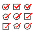 Set of check mark icons - 67246801