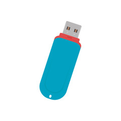 flash drive icon on white background