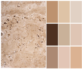 travertine color chart