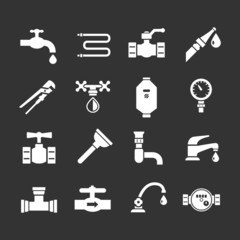 Set icons of plumbing