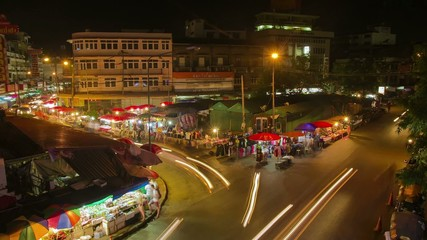 HD Time Lapse night market