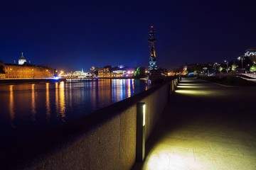 Crimean Embankment, Moscow, Russia (night)
