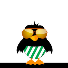 bird with glasses and green shorts