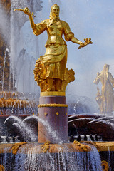 Fountain of Friendship of Peoples on VVC, Moscow, Russia
