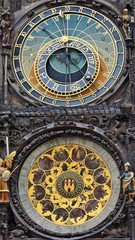Astronomical clock on the town hall. Prague, Czech Republic