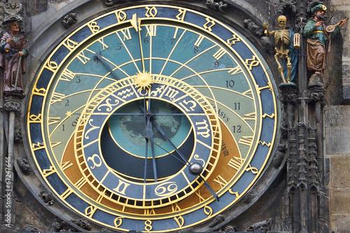 Staande foto Praag Astronomical clock on the town hall. Prague, Czech Republic
