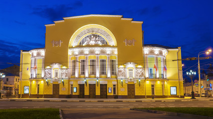 Academic Drama Theatre. F.Volkova night in Yaroslavl, Russia