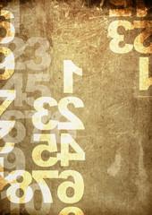retro style numbers