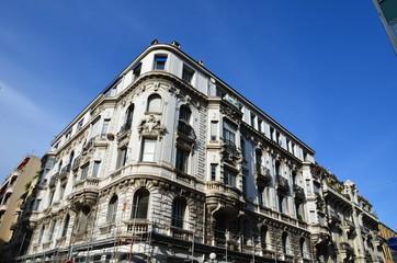 Architecture, façade d'immeuble, ville de Nice