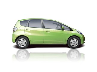 Green family car MPV