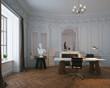 Büro in Altbauwohnung