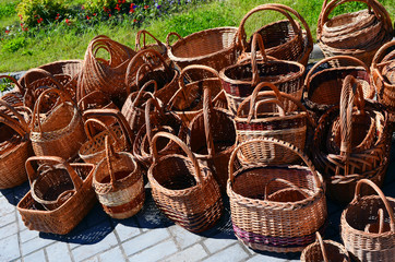 wattled baskets