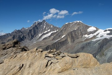 High Mountains Named Taschhorn ( 4490 m )  And Alphubel