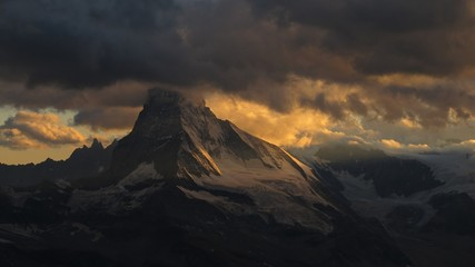 Dramatic sky over the Matterhorn
