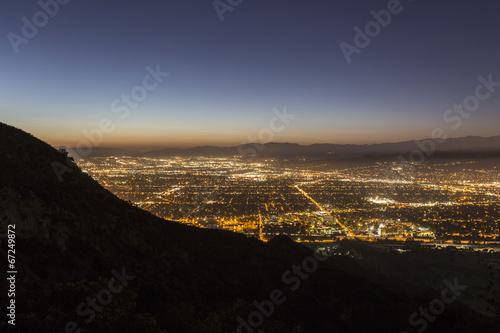 Fotobehang Los Angeles Burbank California Night