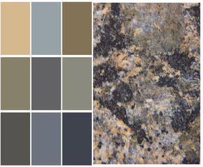 granite color chart selection for interior