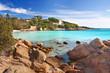 canvas print picture - Strand mit türkisfarbenen Wasser