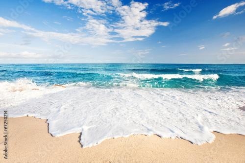 Plexiglas Golven Wellen am Strand von Sardinien