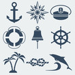 nautical marine icons set - 67250453