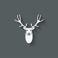 deer head design element