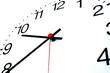Leinwanddruck Bild - clock