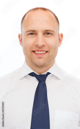 canvas print picture portrait of smiling businessman