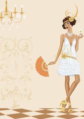 Woman in style of the twenties