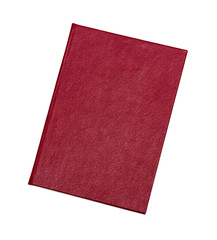 red cover on a white background