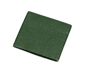green cover on a white background