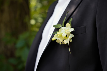 Buttonhole on a jacket.