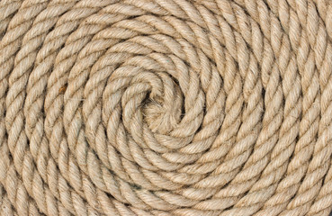 Jute rope. Background