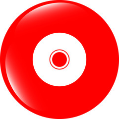 CD or DVD sign icon. Compact disc symbol. website button